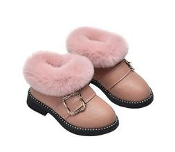 Winter Fashion Shoes Flat Toddler Girls Snow Boots Foot Warm