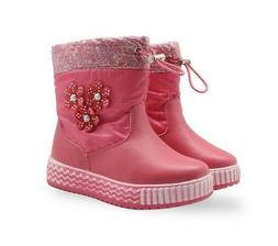 Winter Soft Warm Shoes for Toddler Baby Girl Waterproof Mid-